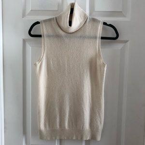 Theory sleeveless turtle neck sweater cashmere